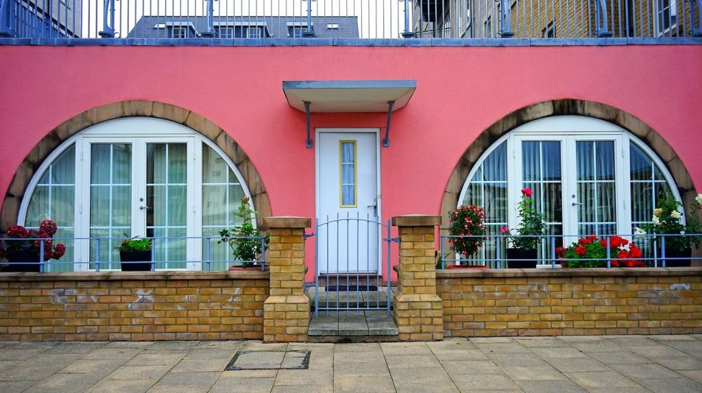 Dekorative Haustür