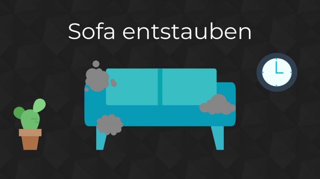 Sofa entstauben